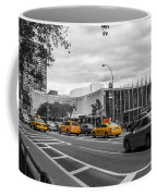 Yellow Cabs By The United Nations, New York 2 Coffee Mug