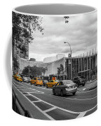 Yellow Cabs By The United Nations, New York 3 Coffee Mug