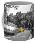 Yellow Cabs In Central Park, New York 3 Coffee Mug