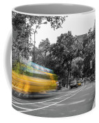 Yellow Cabs In Central Park, New York 4 Coffee Mug