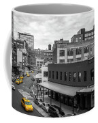 Yellow Cabs In Chelsea, New York 5 Coffee Mug