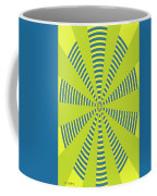 Yellow Cactus Spines Abstract Coffee Mug