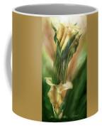 Yellow Callas In Calla Vase Coffee Mug