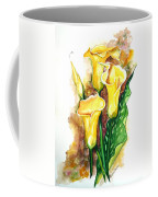 Yellow Callas Coffee Mug