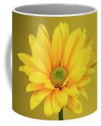 Yellow Chrysanthemum On Yellow Coffee Mug