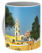 Yellow Church In Cholula, Mexico Coffee Mug