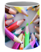 Yellow. Colored Pencils Used By Children Coffee Mug