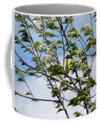 Yellow Finch And Flowers Coffee Mug