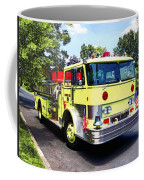 Yellow Fire Truck Coffee Mug