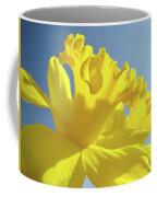 Yellow Flower Floral Daffodils Art Prints Spring Blue Sky Baslee Troutman Coffee Mug
