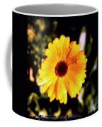Yellow Flower With Rain Drops Coffee Mug