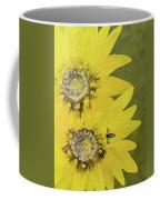 Yellow Gazanias And Bee  Coffee Mug