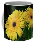 Yellow Gerbera Daisies By Kaye Menner Coffee Mug