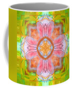 Yellow Green Medallion Coffee Mug