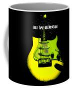Yellow Guitar Full Time Occupation Coffee Mug