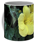 Yellow Hibiscus Watercolor Coffee Mug