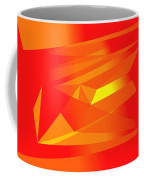 Yellow In Red Coffee Mug