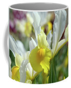 Yellow Irises Flowers Iris Flower Art Print Floral Botanical Art Baslee Troutman Coffee Mug