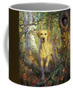 Yellow Lab In Fall Coffee Mug