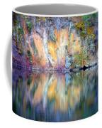 Yellow Lake Abstract Coffee Mug