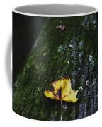 Yellow Leaf On Mossy Tree Coffee Mug