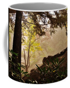 Yellow Leaves In The Mist Coffee Mug