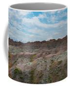 Yellow Mounds Panorama At Badlands South Dakota Coffee Mug