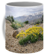 Yellow Mountain Blooms Coffee Mug by Margaret Pitcher