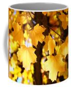 Yellow Nature Tree Leaves Art Prints Bright Baslee Troutman Coffee Mug