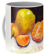 Yellow Pear With Tangerine Slices Grace Venditti Montreal Art Coffee Mug