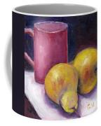 Yellow Pears And Mug Stll Life Grace Venditti  Coffee Mug