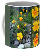 Yellow Poppies Collage  Coffee Mug