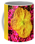 Yellow Poppy And Kalanchoe Flowers Coffee Mug