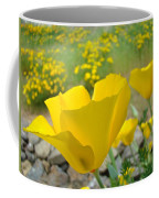 Yellow Poppy Flower Meadow Landscape Art Prints Baslee Troutman Coffee Mug