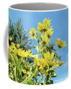Yellow Posies Gazing At The Sky  Coffee Mug