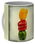 Yellow Red And Green Bell Pepper Coffee Mug