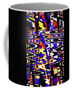Yellow Red Blue Black And White Abstract Coffee Mug
