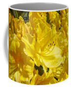 Yellow Rhodies Floral Brilliant Sunny Rhododendrons Baslee Troutman Coffee Mug