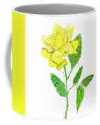 Yellow Rose, Painting Coffee Mug