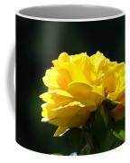 Yellow Rose Sunlit Rose Garden Landscape Art Baslee Troutman  Coffee Mug