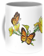 Yellow Roses And Monarch Butterflies Coffee Mug