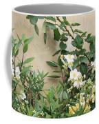 Yellow Roses And Tiny Window At Carmel Mission Coffee Mug