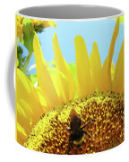 Yellow Sunflower Art Prints Bumble Bee Baslee Troutman Coffee Mug