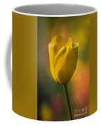 Yellow Tulip Textures Of Spring Coffee Mug