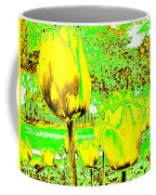 Yellow Tulips Abstract Coffee Mug