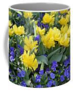 Yellow Tulips And Violets Coffee Mug