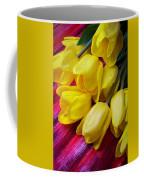 Yellow Tulips With Dew Drops Coffee Mug