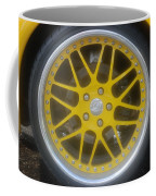Yellow Vette Wheel Coffee Mug
