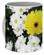 Yellow White Flowers Coffee Mug