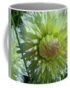 Yellow With White Dahlia Flower Coffee Mug